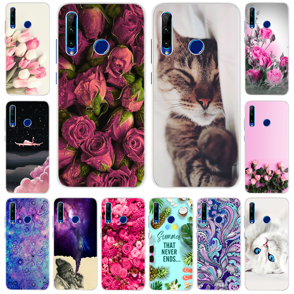 Honor 10i Case Cartoon Soft Silicone Case For Huawei Honor 10i HRY-LX1 HRY-LX1T Back Cover Phone Case For Honor 10i 10 I 6.21