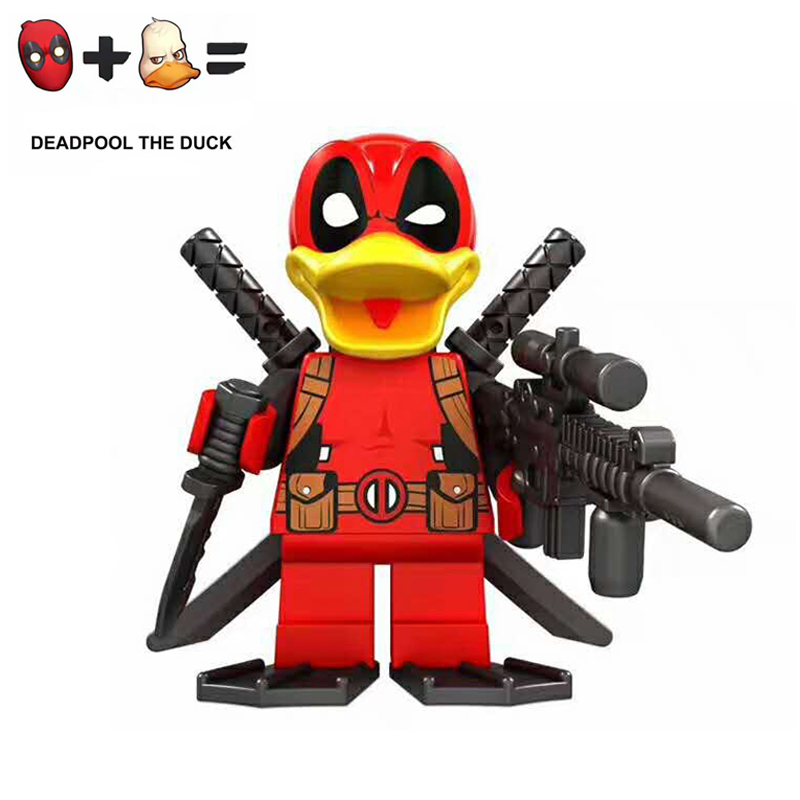 2017 HOT Limited Edition Marvel Super Heroes Model LegoINGlys Deadpool The DucK Action Figure Building Blocks Toys For Children building blocks super heroes back to the future doc brown and marty mcfly with skateboard wolverine toys for children gift kf197