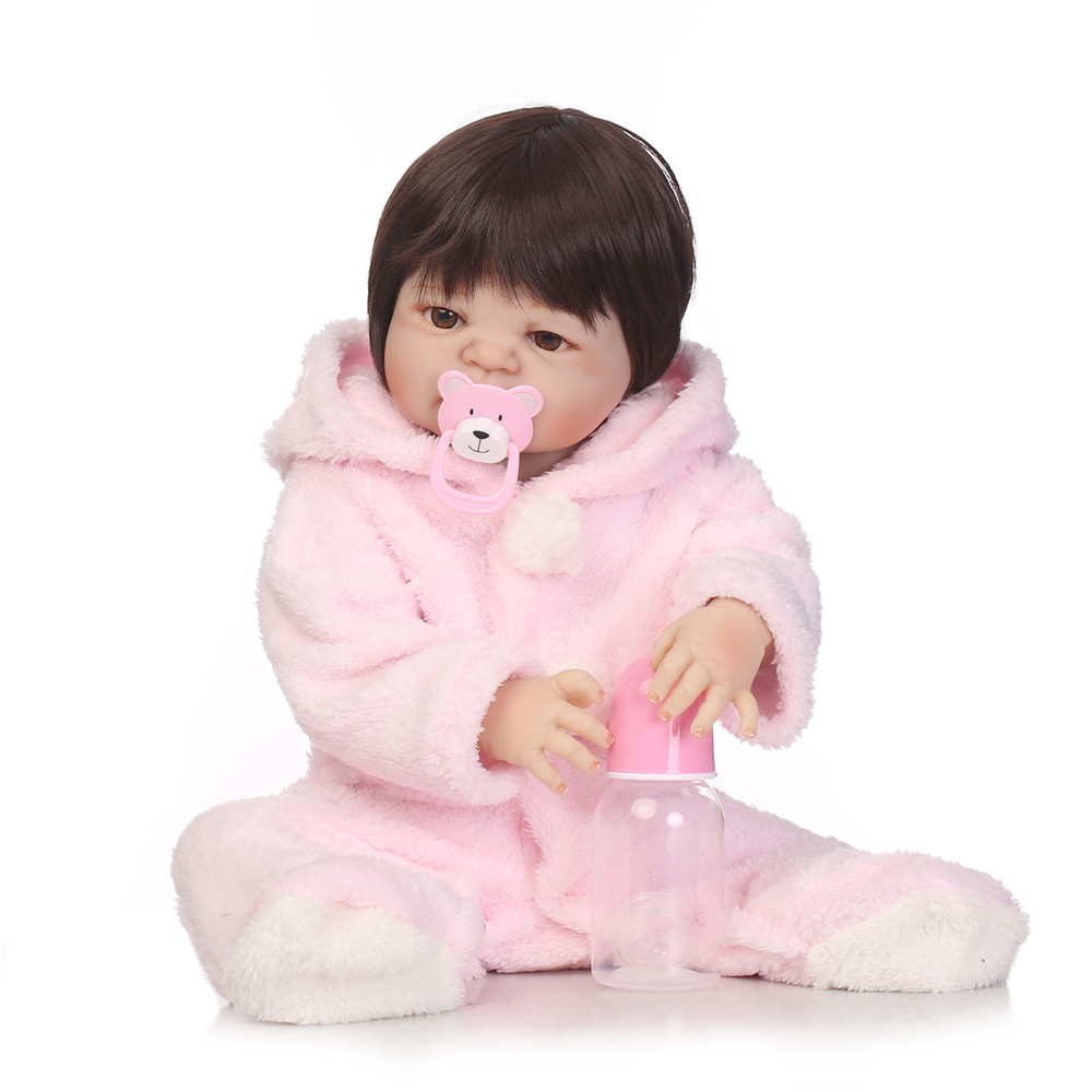 22 Full Silicone Vinyl Reborn Baby Girl Realistic Alive Newborn Babies Doll White Skin Ethnic bebe Toddler For kids Xmas Gifts22 Full Silicone Vinyl Reborn Baby Girl Realistic Alive Newborn Babies Doll White Skin Ethnic bebe Toddler For kids Xmas Gifts