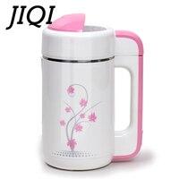 JIQI Mini Soymilk Machine Soya bean Milk Maker Stainless Steel Automatic Porridge Heating Cooker Soy Beans Mixer Juicer Blender