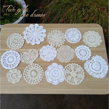 Подставки для цветов чай coaster 15 Дизайн держатель кухонный аксессуар ручной работы 7-15 см крючком hotel обеденный стол Декор салфетка 30 шт./лот