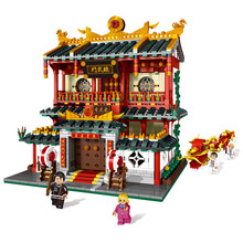 XingBao 01004 Genuine The Chinese Martial Arts kung fu School Creative Model Building Blocks Children Educational Toys Model(China)