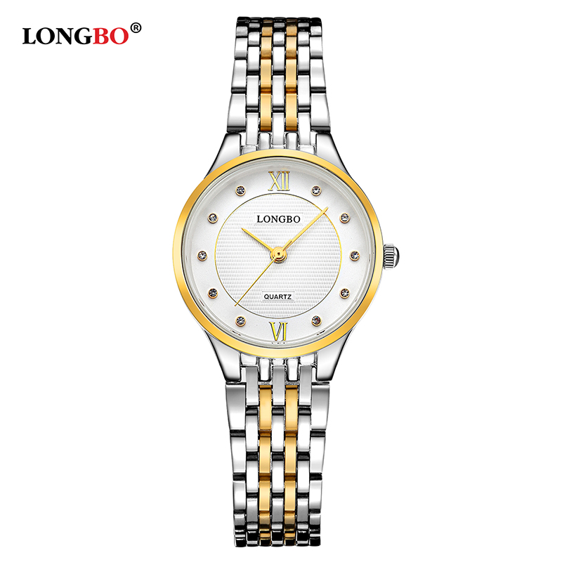 Longbo Brand Fashion Luxury Women Watches Leisure Style Ladies Waterproof Quartz Charms Steel