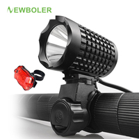 NEWBOLER XM L T6 LED Bicycle Light Bike Front Lamp Torch Headlight With USB Rechargeable Battery