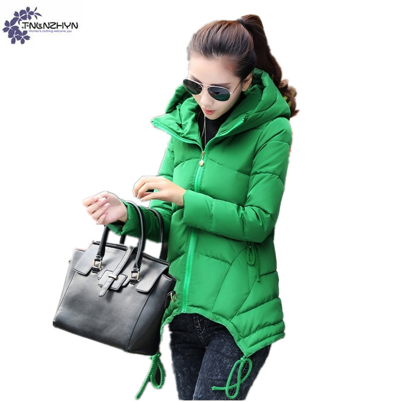 TNLNZHYN Women clothing cotton coat winter new fashion large size leisure hooded thickening warm female cotton Outerwear TT606 canvas rivet single shoulder bags vintage fashion solid zipper male crossbody bag luxury casual handbags men travel package