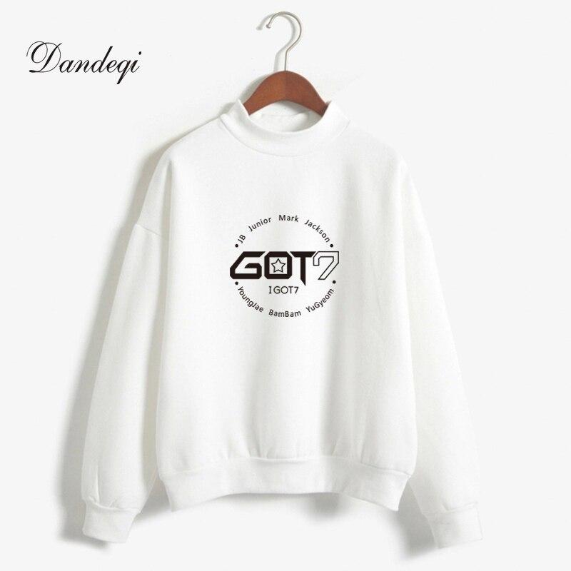 Brand New Fashion Autumn Winter Fleece Women Hoody Harajuku Got7 Cute Kpop Hoodies Sweatshirts Moletom Pullover Top