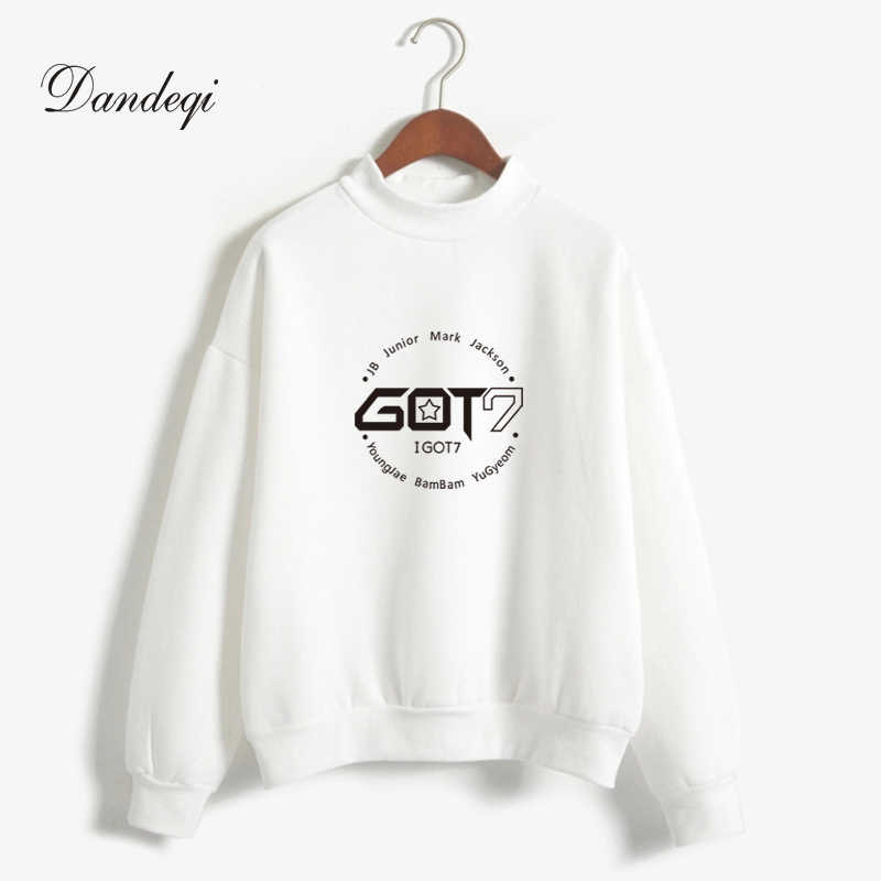2af1f774fabf Brand New Fashion Autumn Winter Fleece Women Hoody Harajuku Got7 Cute Kpop Hoodies  Sweatshirts Moletom Pullover