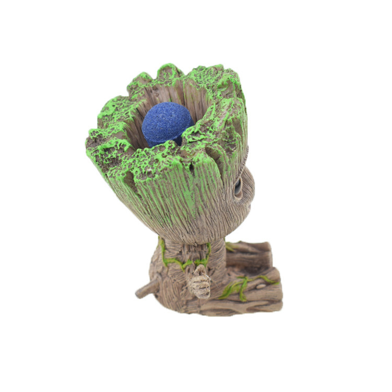 Cute Tree Man Figurine Garden Aquarium Decoration Root Air Bubble Driftwood Statue Fish Tank Background Ornament Rock Shelter6
