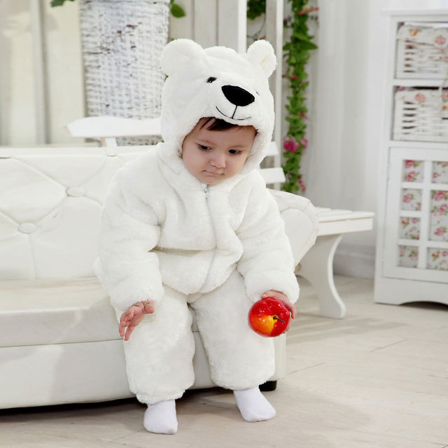 Free Shipping New White Animal Style Polar Bear Baby rompers Clothing Children Spring Clothing Newborn Autumn  sc 1 st  AliExpress.com & Free Shipping New White Animal Style Polar Bear Baby rompers ...