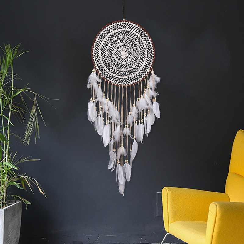New Hollow Wind Chime Hanging Ornaments Large Dream Catcher Home Decoration Bedroom Living Room Wall Hanging Decorative Pendant
