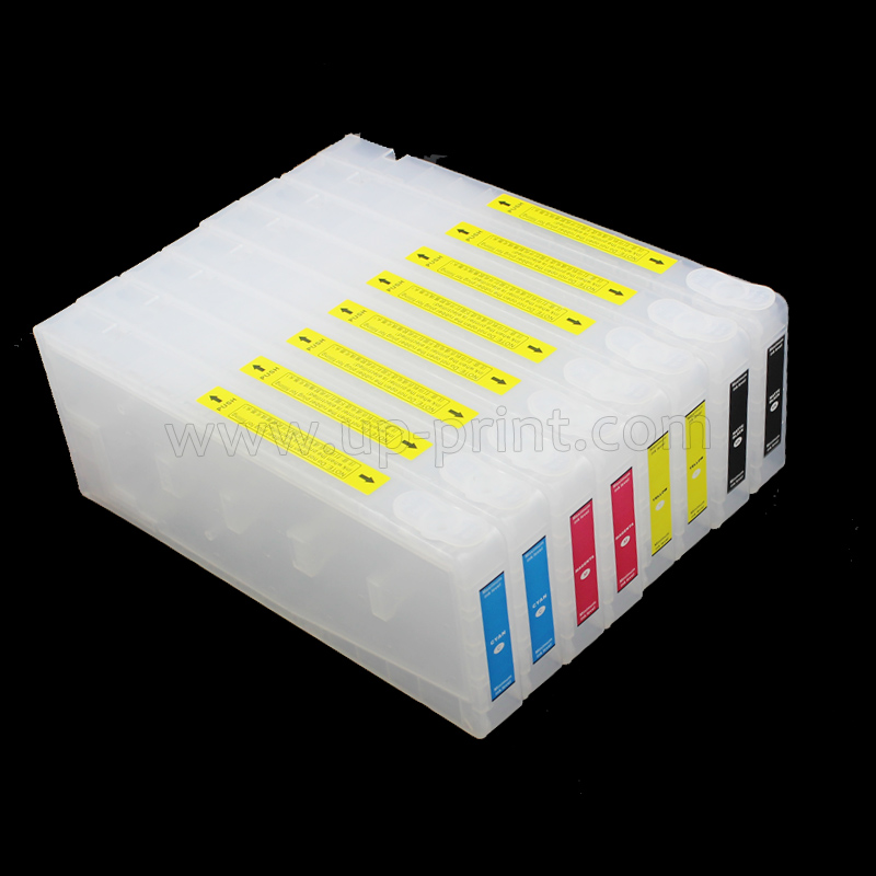 350ml 8pcs pro7400 pro9400 Refillable ink Cartridges for epson pro 7400 pro 9400 printer