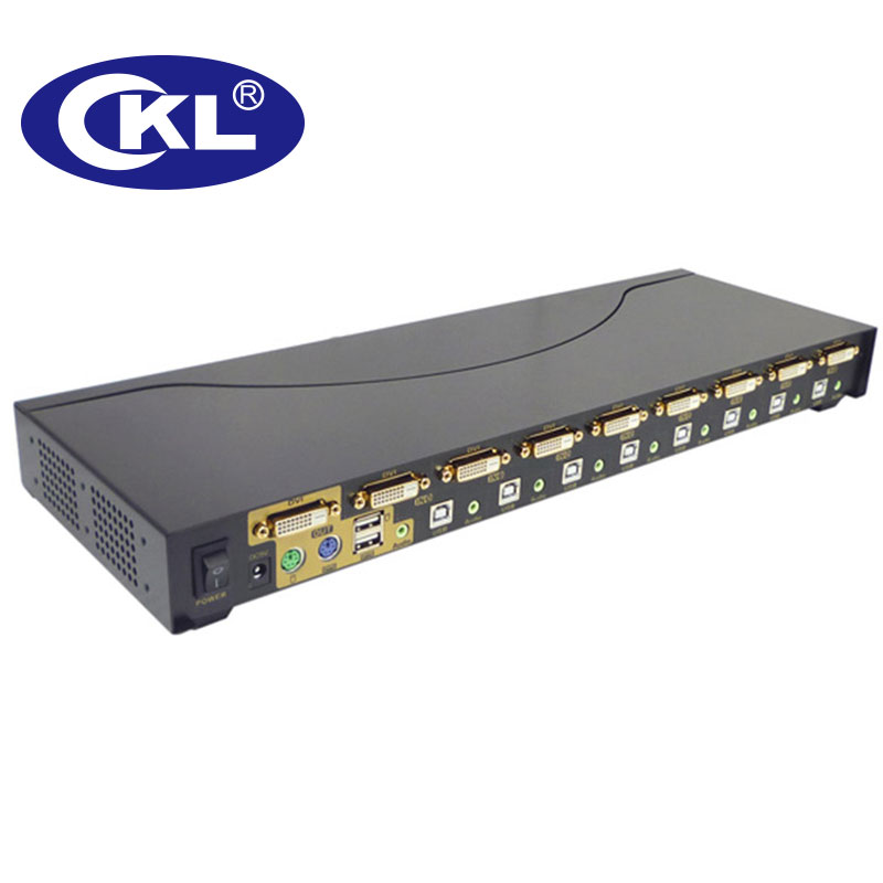 pc teclado hot chave mouse switcher rack de metal ckl 9138d 03