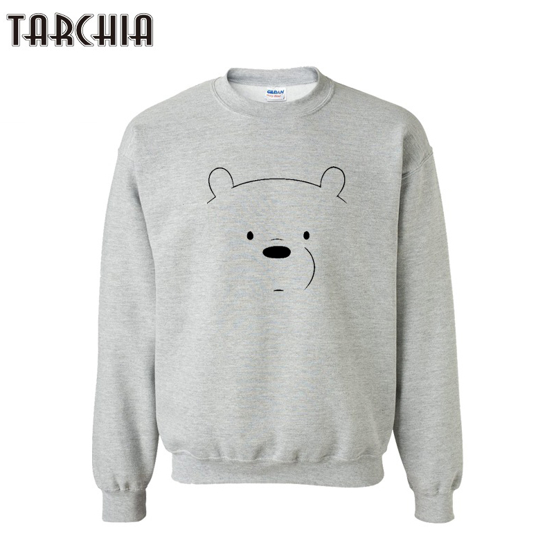 TARCHIA Cute BEAR Print Hombre Hip Hop Men Harajuku Streetwear Skateboard Hoodie 2018 HipHop Sweatshirt Pullover Sportswear Tops