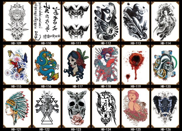 New arm tattoo sticker temporary tattoo sticker personality water transfer printing fashion beauty decoration customization