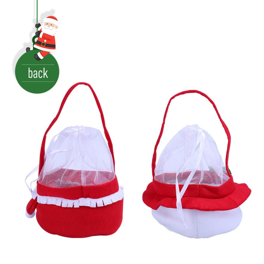 Creative Christmas Tree Pattern Santa Claus Candy Bag Handbag Home Party Decoration Gift Bag Christmas Supplies