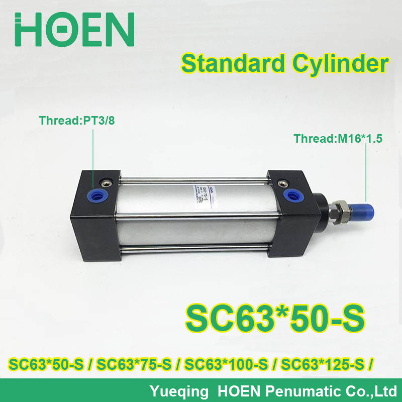 SC63x50-S 63mm bore stroke SC63x75-s standard single rod double action pneumatic cylinder SC SU series SC63X100-S SC63X125-S su100 50 su100 75 su100 100 su100 125 su100 150 100mm bore size su sseries double action single rod standard pneumatic cylinder