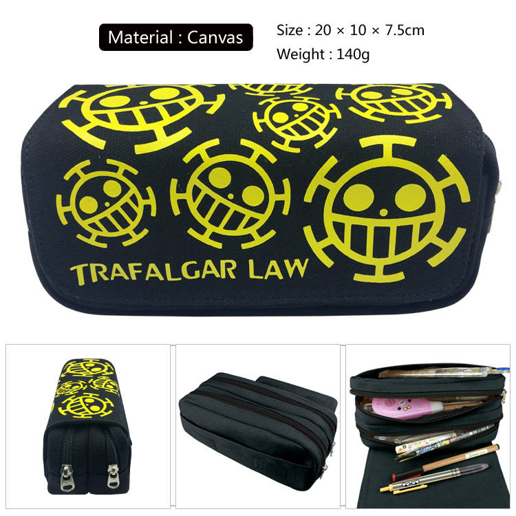 Unisex Fashion Handbags One Piece Luffy/Trafalgar Law/Nami Cartoon Pen Bag Children Pencil Case Zipper Makeup Bag Cosmetic Pouch cartoon pencil pen case gravity falls totoro dragon ball zelda adventure time cosmetic makeup coin pouch zipper bag