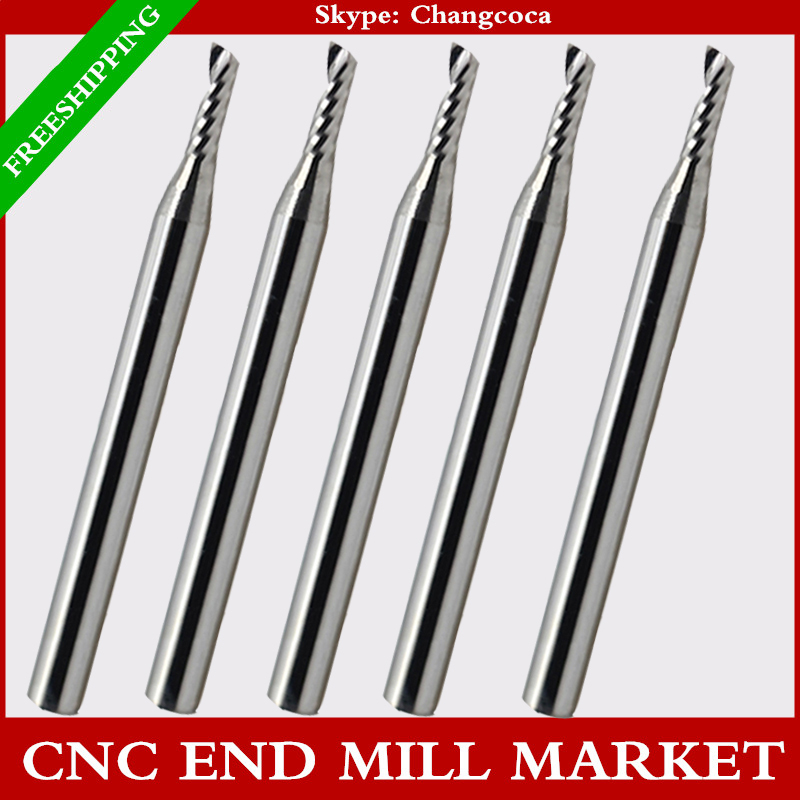 3.175mm*2.0mm*6mm,CNC machine solid carbide tungsten end mill,woodworking milling cutter,1 Flute end mill,PVC,MDF,acrylic,wood