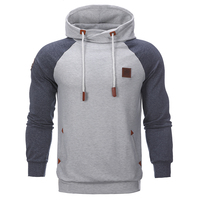Heren Hoodies Slim Trainingspak Huid Standaard Gemengde Kleur Hooded Truien Fashion Brand Mannelijke Hoodie Sweatshirt
