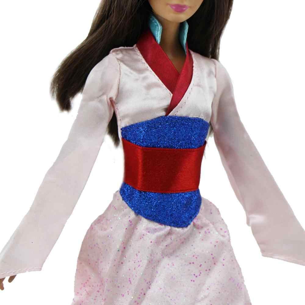 1 компл. сказка Классические Длинные платье Копировать Мулан платье национальной традиции Одежда для куклы Барби кукольный домик аксессуары игрушки подарки