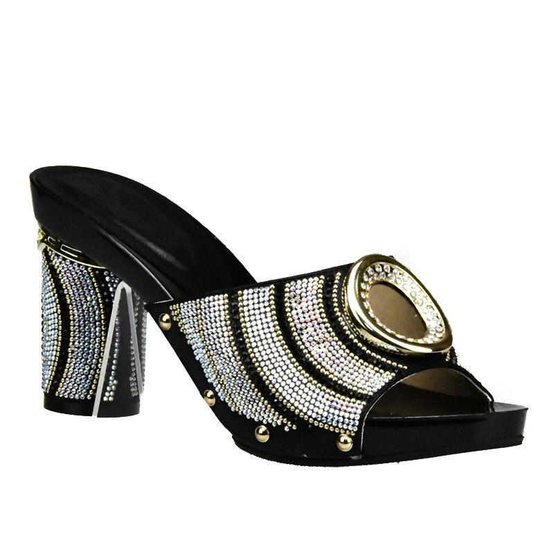 Qualité argent bleu Pour Correspondant De or Nouveau Et 2018 Noir Dans Partie vert Design Haute Sacs jaune Ensemble Africains Italien Femmes Sac Chaussures 0FFqpf1