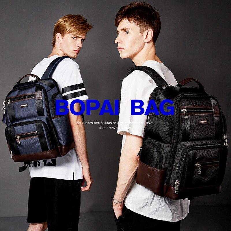 Multifuncional Popular 2018 de alta calidad de cuero genuino mochila grande para hombre bolsa de ordenador portátil mochila negra de negocios ipad bolsa de viaje - 4