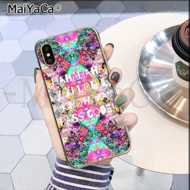 Maiyaca Không Dont Cảm Ứng Điện Thoại Của Tôi Đáng Yêu Màu Vẽ Lưng Điện Thoại Cho Apple iPhone 8 7 6 6S Plus X XS Max 5 5S SE XR