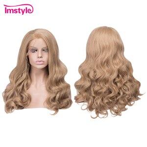 Image 2 - Imstyle น้ำผึ้งสีบลอนด์ Wigs วิกผมสังเคราะห์ลูกไม้ด้านหน้าด้านหน้า Wigs สำหรับผู้หญิงความร้อนทน Glueless ธรรมชาติผมคอสเพลย์วิกผม