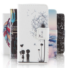 Fashion Cartoon pattern PU Leather Case for Sony Xperia E1 D2004 D2005 Phone Cover Case for