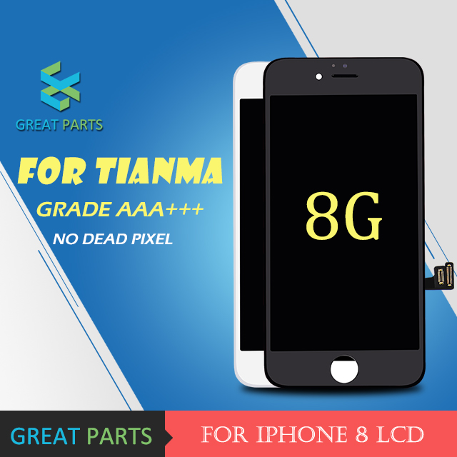 GREAT PARTS 5PCS For Tiamma 100 Guarantee Good Display Touch Screen digitizer Frame assembly For iPhone