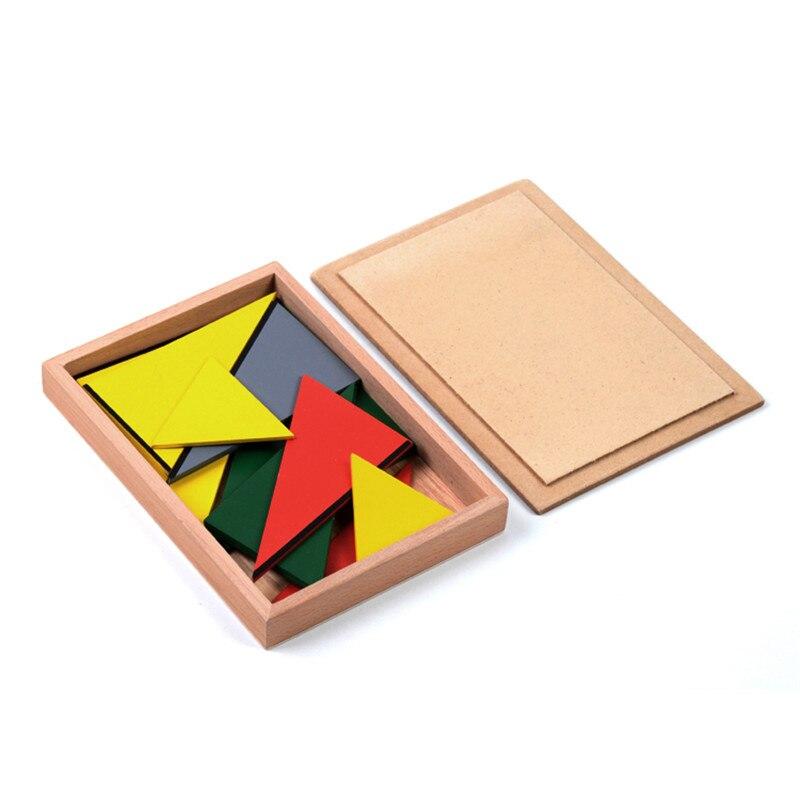 Version familiale bébé jouet Montessori Triangles constructifs avec 5 boîtes éducation de la petite enfance jouets de formation préscolaire - 2