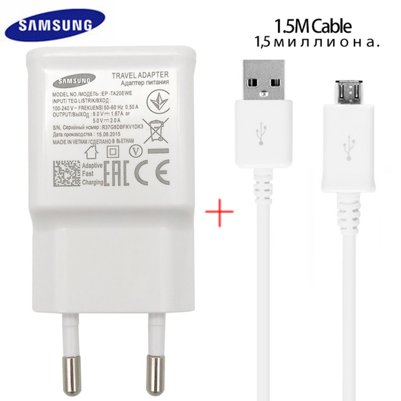 100% Original Samsung Fast Charger Galaxy Note4 5 S7 6 edge Adaptive Quick ..