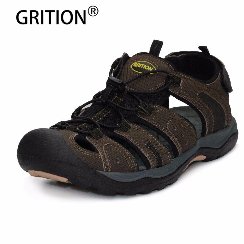 GRITION/Летняя мода Для мужчин сандалии для прогулок дышащая обувь прогулочная обувь мужской ленивый обувь большой Размеры Высокое качество Б...