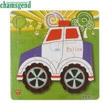 Высокое Качество Деревянный Автомобиль Головоломки Игрушки Для Детей Образование И Обучение Головоломки Игрушки Aug24