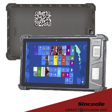 Front fingerprint 8 inch windows rugged tablet with NFC