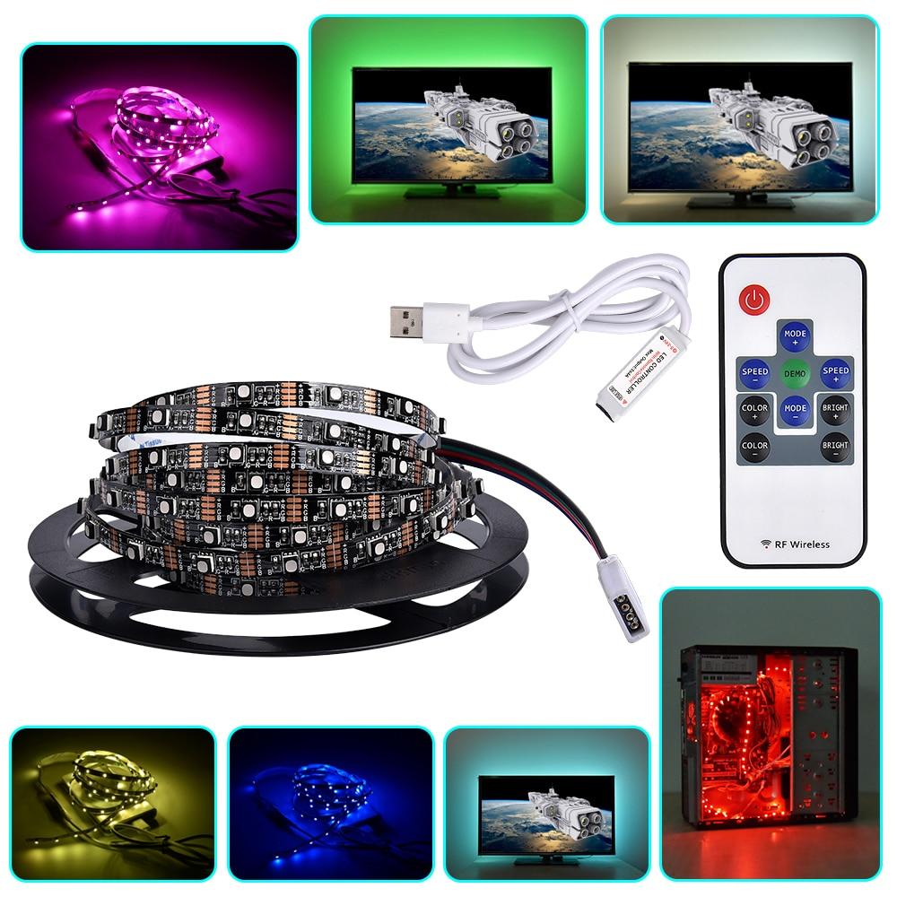 USB LED Strip 3535 RGB 5V Computer Car Bike Decor CRI90 Tape Ribbon Light Lamp for TV Background Lighting 1m 2m 3m + Controller