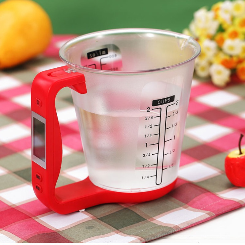 Multi-Function Kitchen Measuring Cup Scale LCD Digital Beaker Libra Electronic Tool Scale Display Temperature Convenient