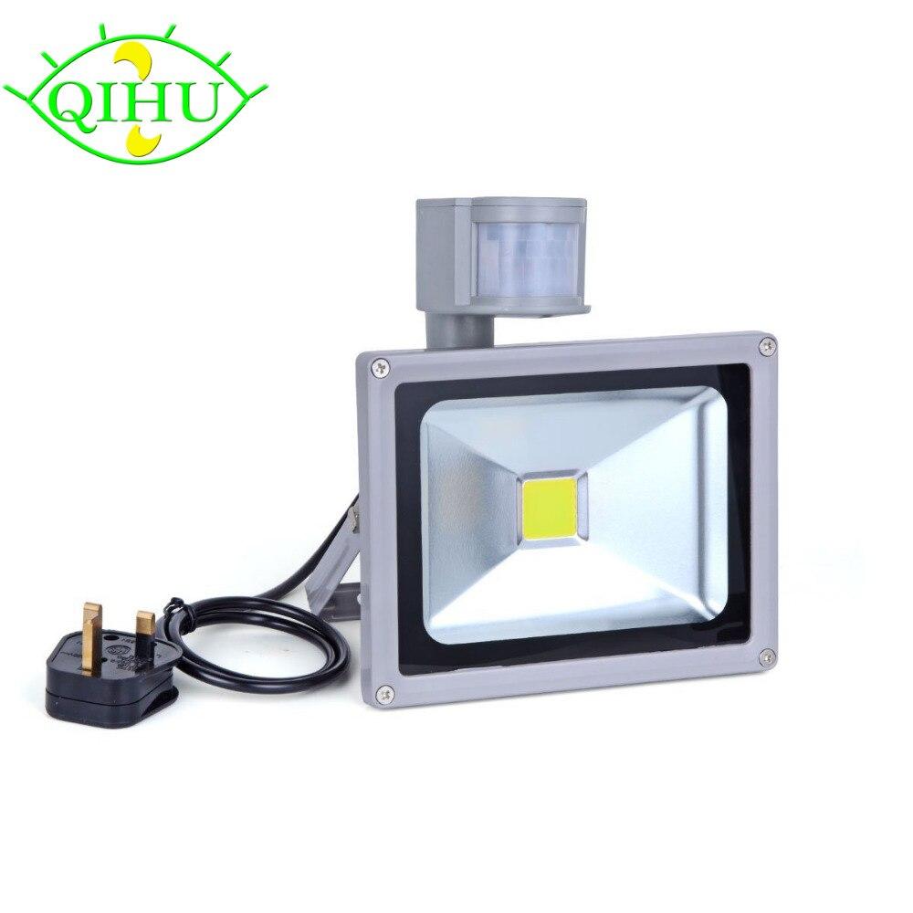 LED Flood Lights with PIR Sensor Waterproof Security Lights with UK/Eu /US/ for Home,Garden,Garage,Landscape Floodlights 10W 20W