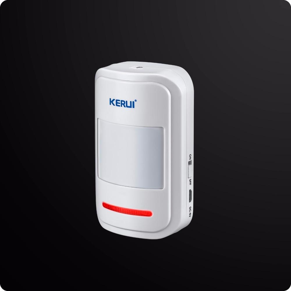 KERUI Wireless Dual Rete GSM PSTN Sistema di Allarme Domestico Android IOS APP Sistema di Sicurezza di Controllo WIFI HD Macchina Fotografica + tasto di panico - 4