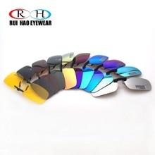 Óculos de sol polarizados clip on moda cor rui hao eyewear marca super leve óculos de sol clipe em óculos de sol