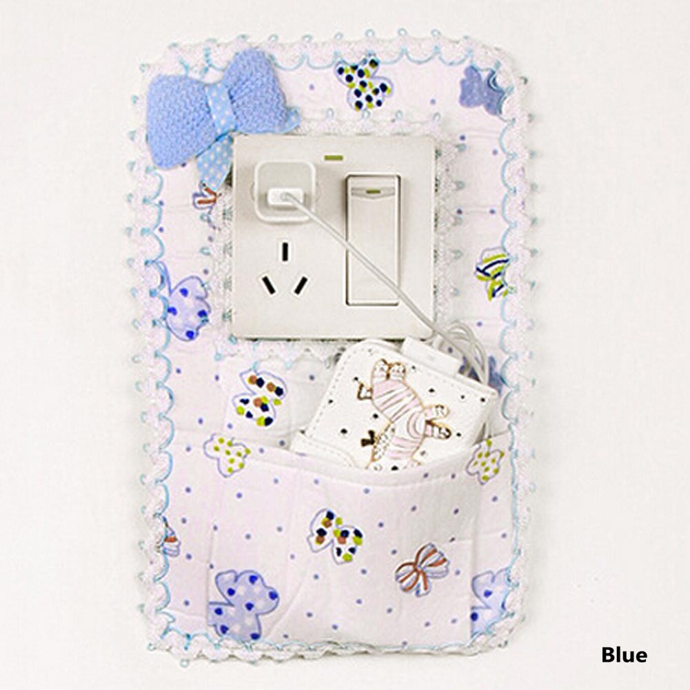 New 27 17cm Home Decorations Cloth Bow Socket Switch Cover Socket
