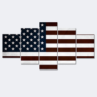 Canvas Painting USA Flag Canvas Art Print Poster Wall Art Picture for Living Room Posters and Prints Combination Painting K069