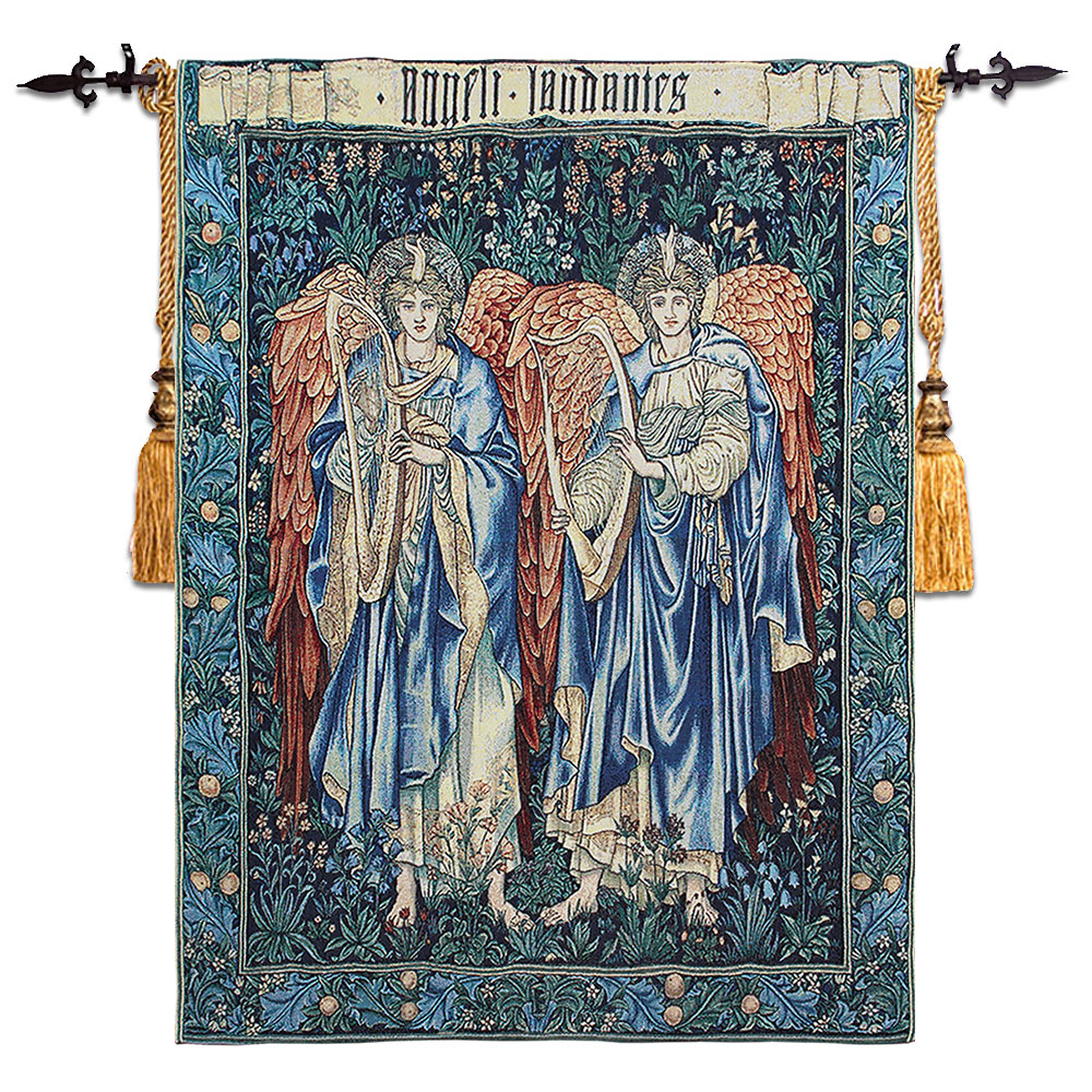 angel painting high quality cotton wall tapestry belgium art wall hanging medieval moroccan. Black Bedroom Furniture Sets. Home Design Ideas