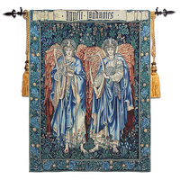 Angel Painting High Quality Cotton Wall Tapestry Belgium Art Wall Hanging Medieval Moroccan Decor Gobelin Decorative Tapestries