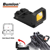Tactical Flip Dot Reflex Sight Scope Red Dot Holographic RMR Sight for Outdoor Hunting Optics HT5 0049