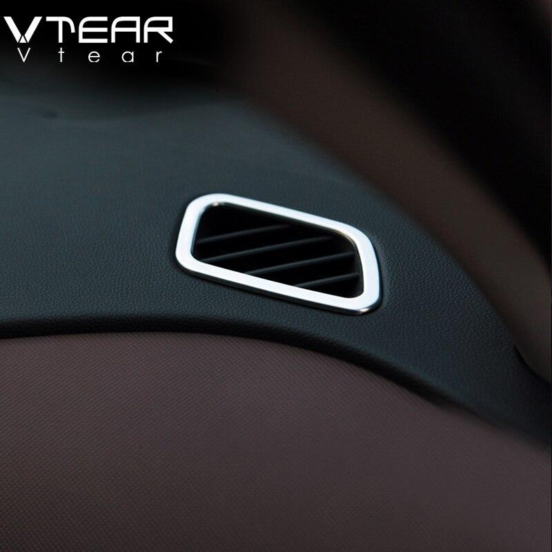 Vtear Für Hyundai Creta ix25 klimaanlage Vent outlet Abdeckung Styling ABS Chrom Dekoration innenleisten Zubehör 2017