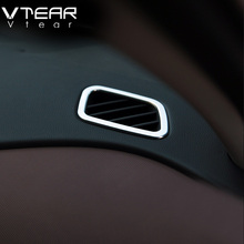 Vtear For Hyundai Creta ix25 air conditioner Vent outlet Cover Styling ABS Chrome Decoration interior mouldings Accessories 2016