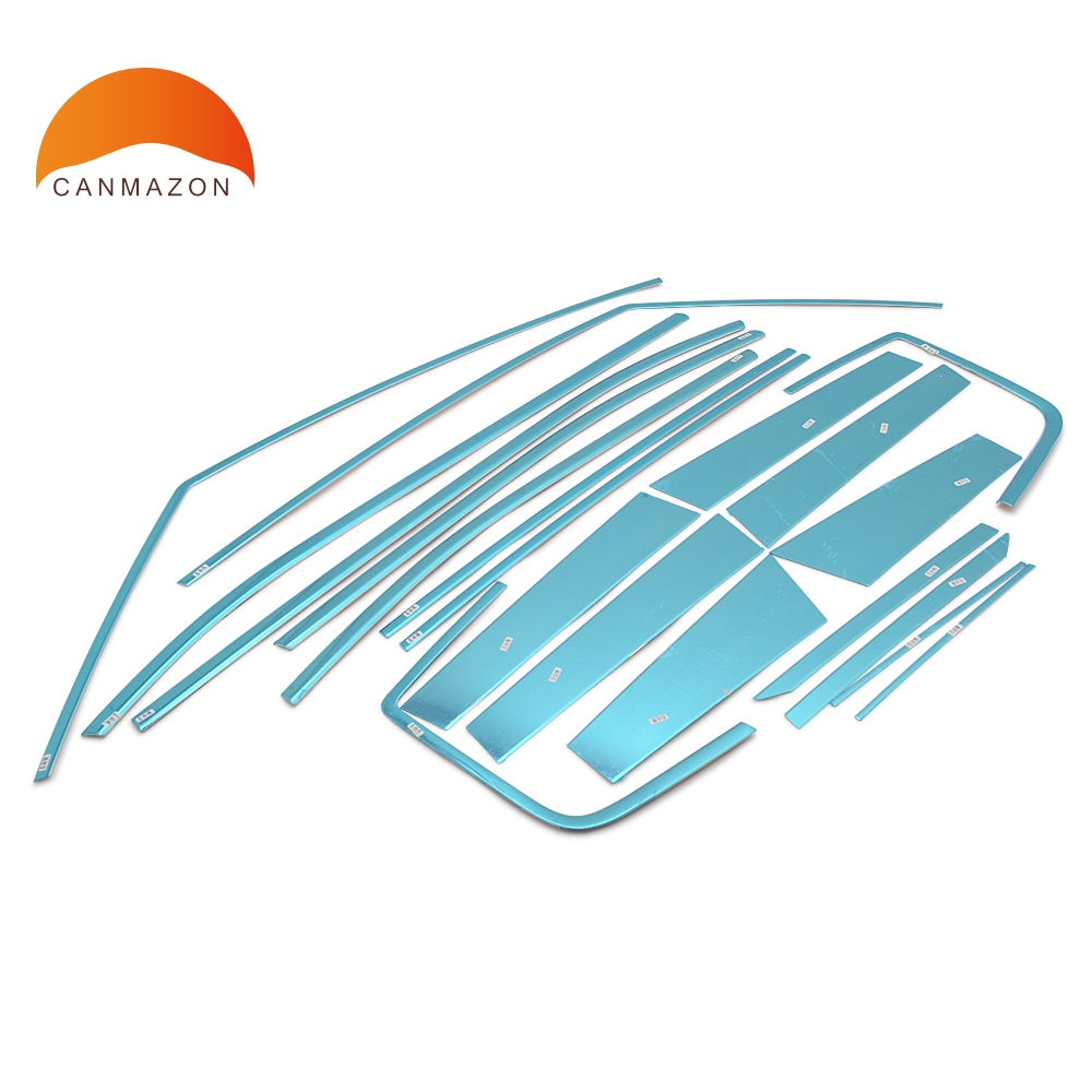 For Jeep Renegade 2016 2017 stainless steel mouldings Side window Molding Cover Trim Car Styling frame chromium stickers 20pcs цена в Москве и Питере