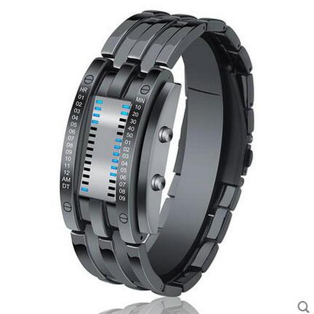 Skmei bluetooth pedômetro relógio de pulso de aço inoxidável de volta relógios de pulso preto homens