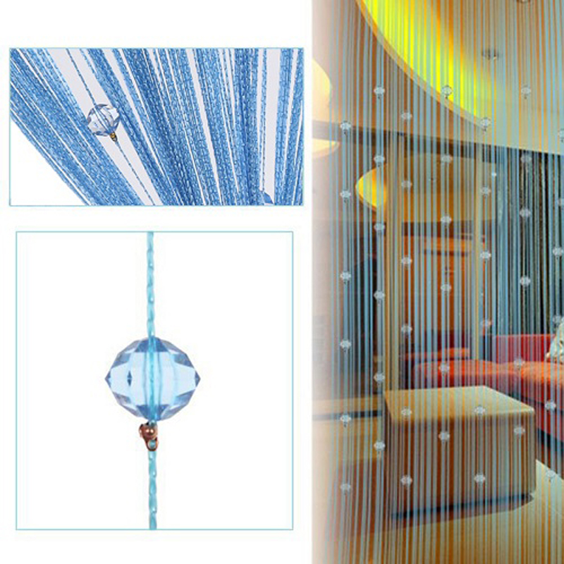 String Door Curtain Bead Room Divider Window Panel Tassel Crystal Fringe Valance wall decoration